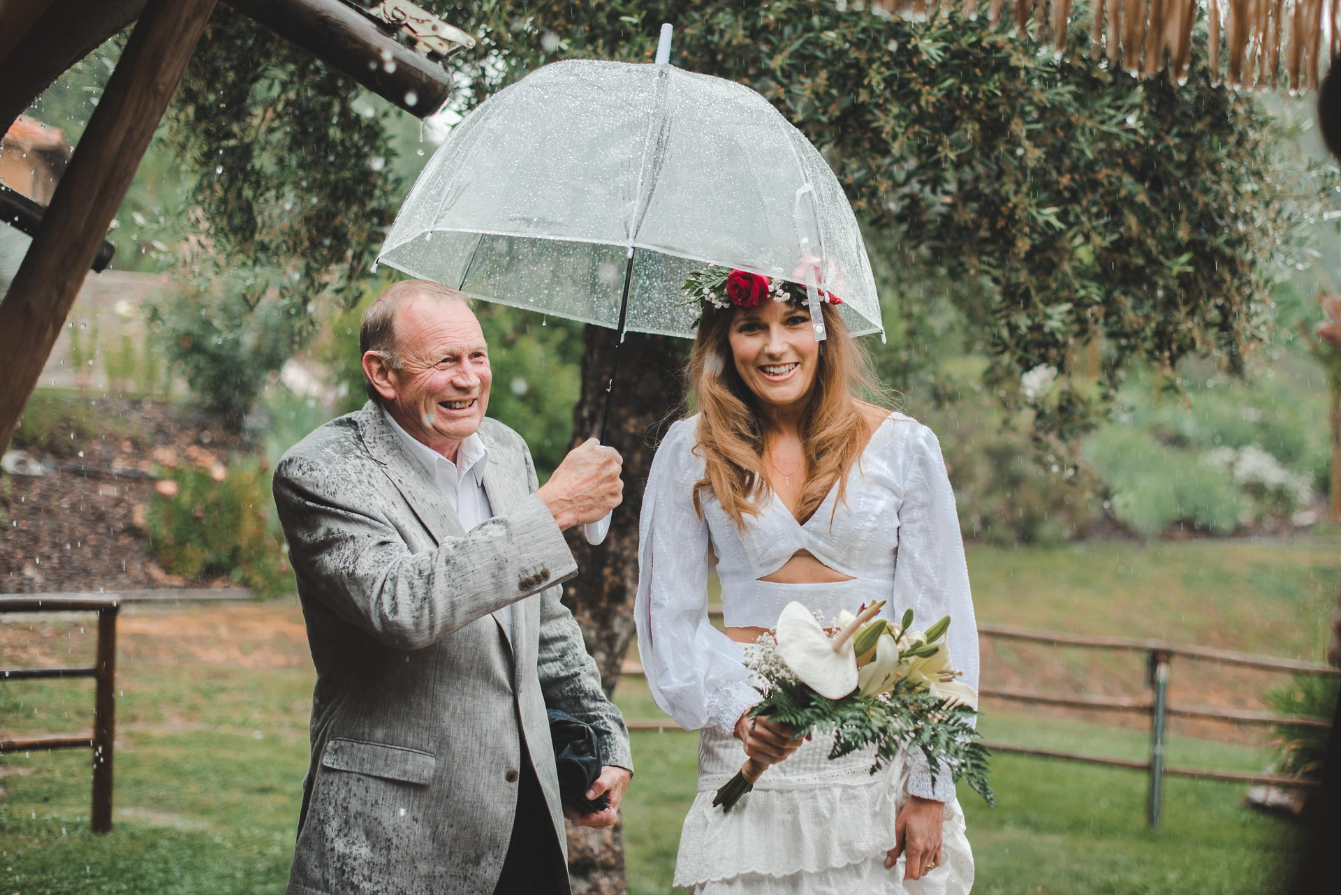 father and daughter wedding moment photography